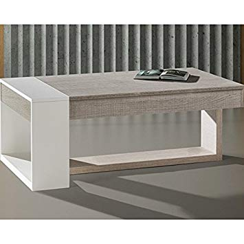 Table basse plateau relevable chene clair