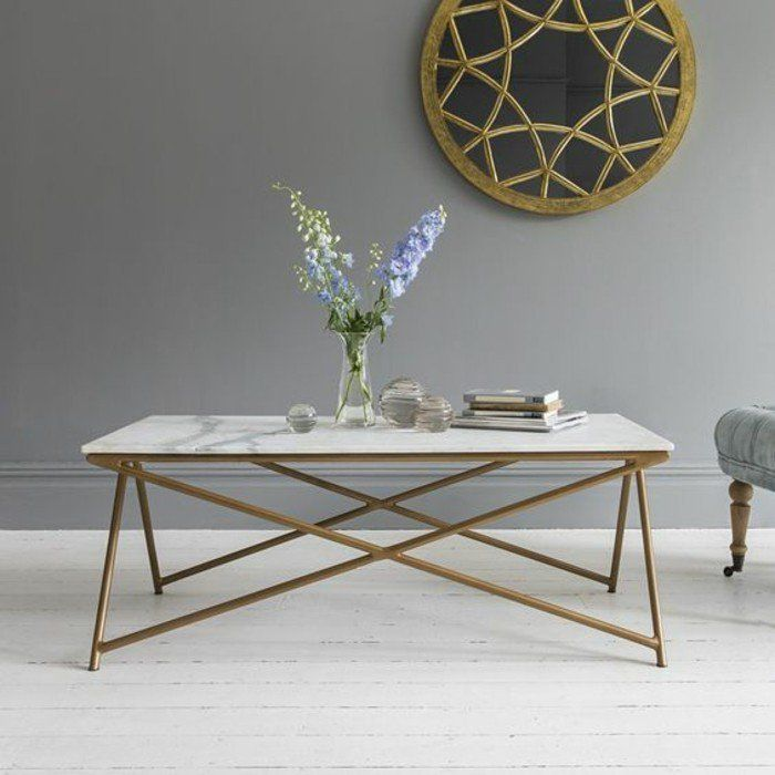 Table basse imitation marbre