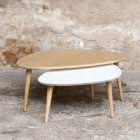 Table basse chene clair scandinave