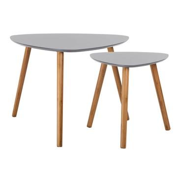 Table basse scandinave 2 tiroirs gris 'vintage grey'
