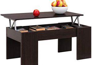 Table basse en bois avec double plateau et 1 niche longueur 110 cm javanie