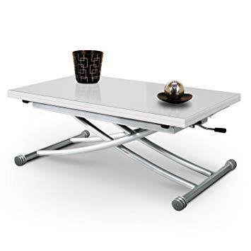 Table basse relevable à piston