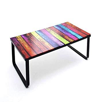 Table basse en verre rainbow