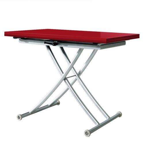 Table basse relevable ilona bois vintage