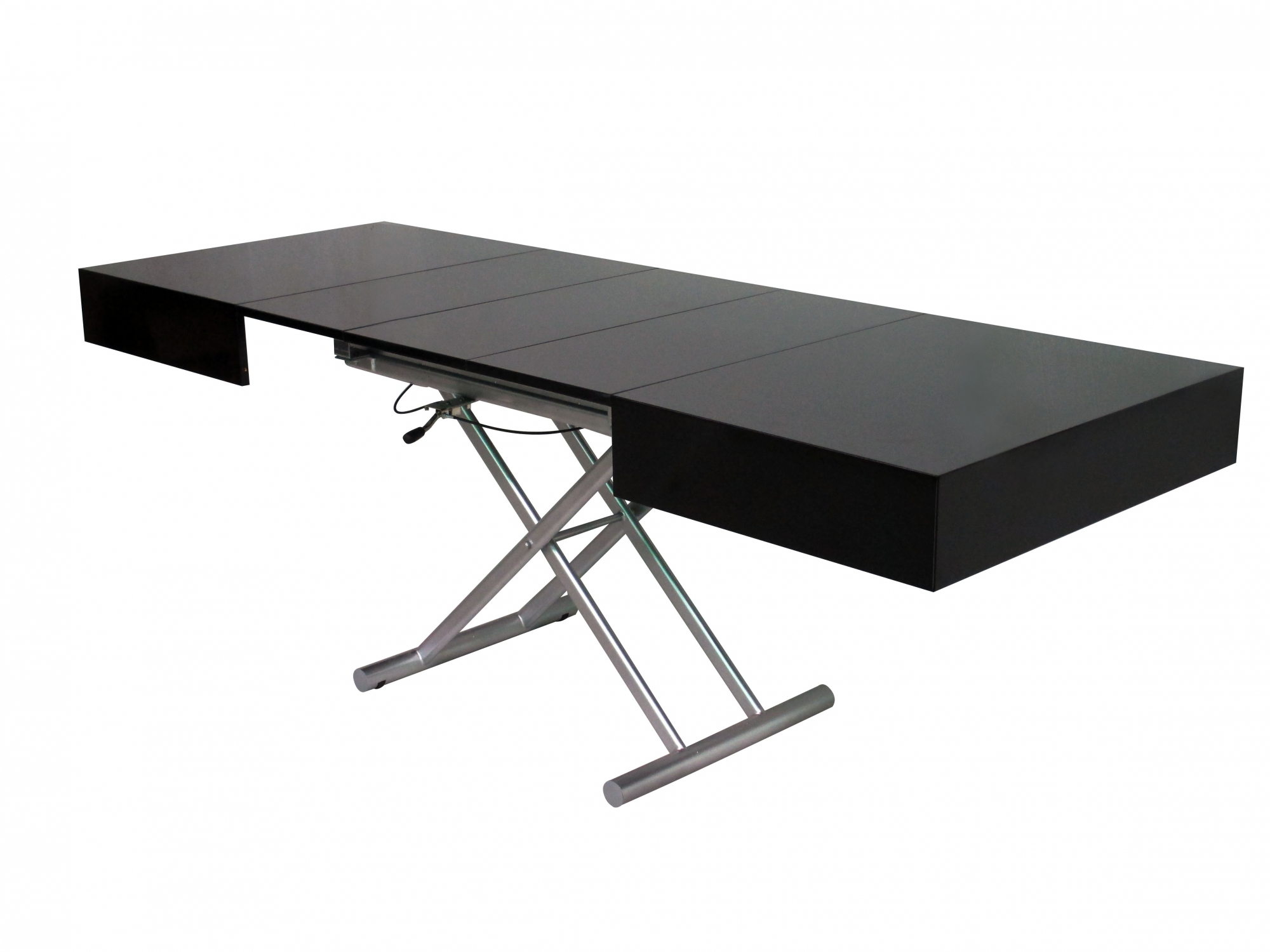 Table basse relevable extensible chene