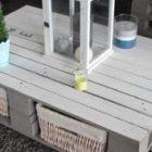 Table basse palette panier