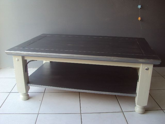 Renover une table basse bois