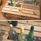 Table basse forme palette de peintre