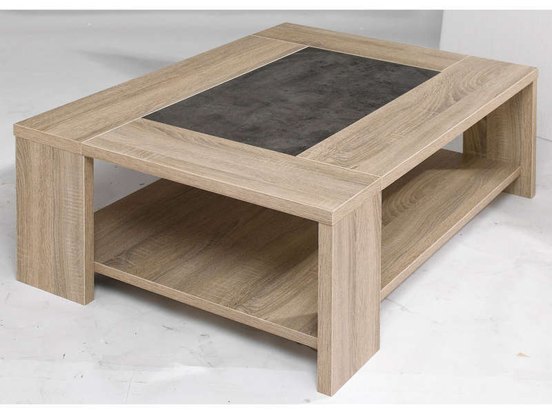 Table basse en bois massif conforama