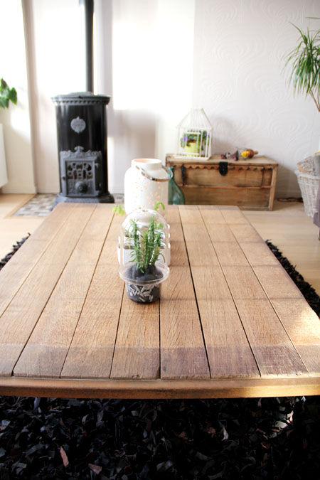 Table basse planches de bois