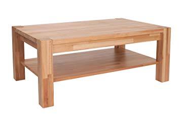 Table basse en bois lamellé collé