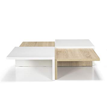 Table basse carre scandinave