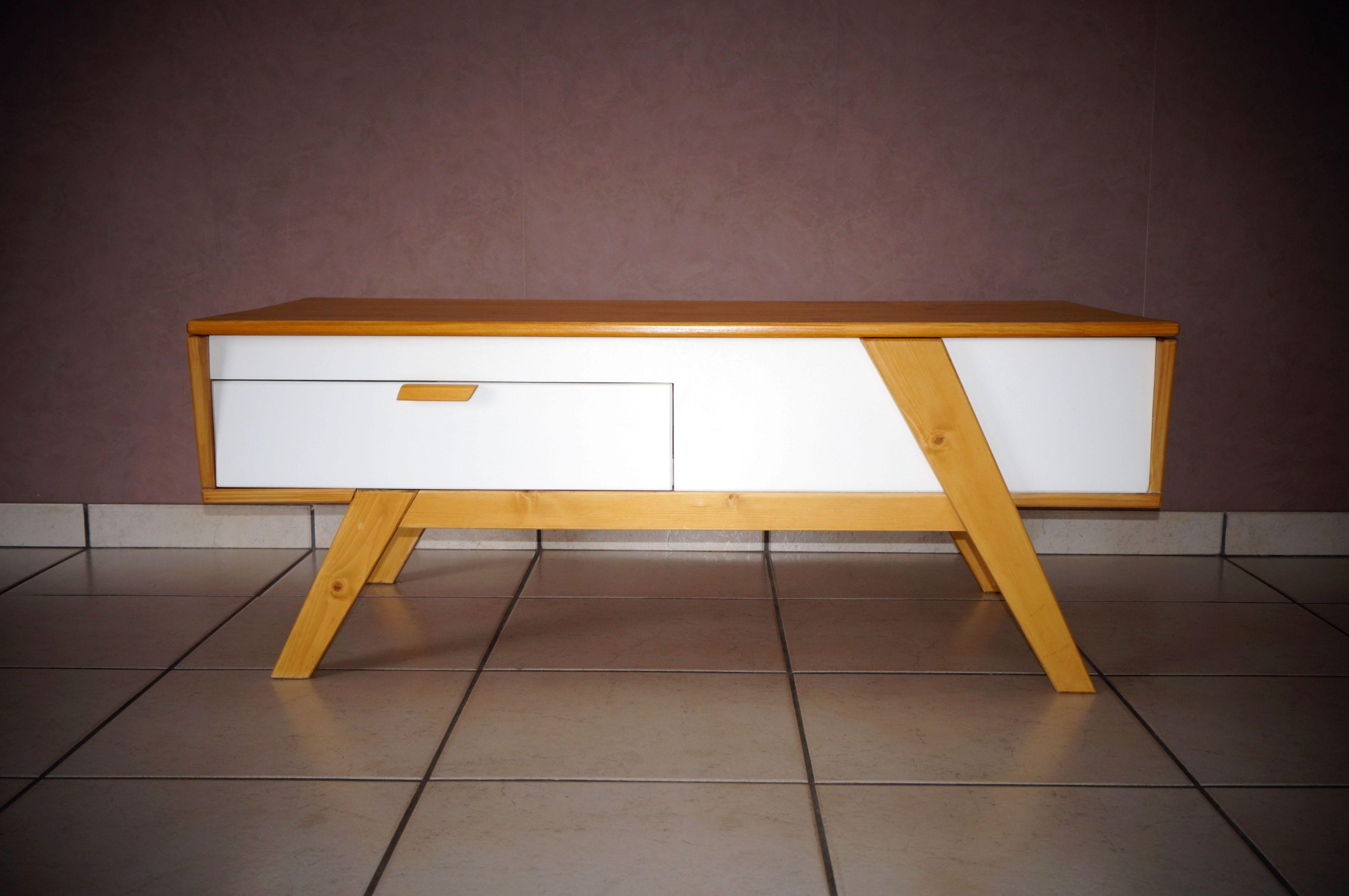 Table basse scandinave plateau relevable