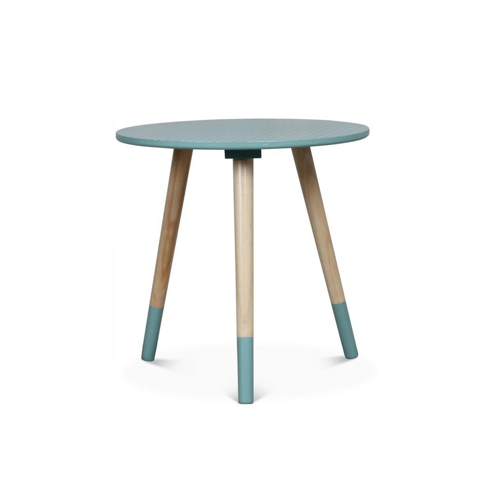Table basse scandinave bleu
