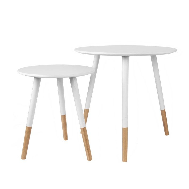 Spring table basse scandinave blanche