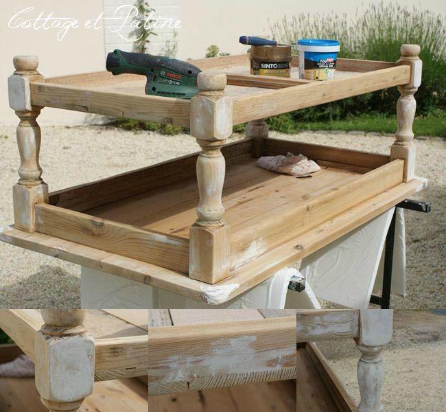 Customiser table basse bois