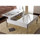 Table basse relevable couleur chene clair