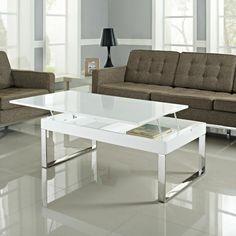 Table basse laqué plateau relevable