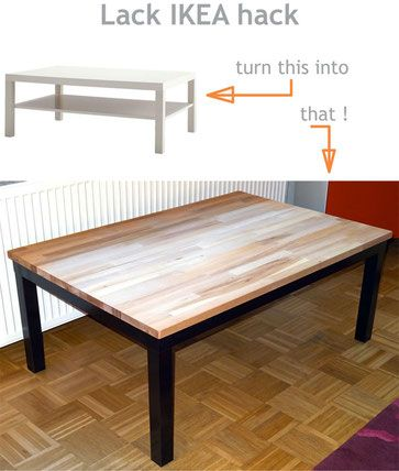 Table basse ikea boksel