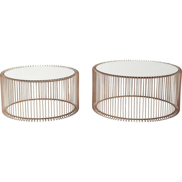Table basse ronde wire