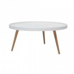 Table basse scandinave rose pale