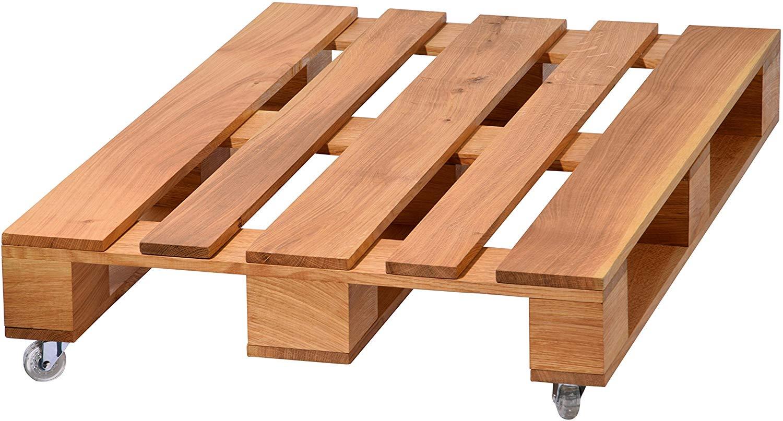 Table basse palette zinc