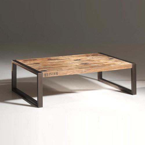 Table basse design bois métal