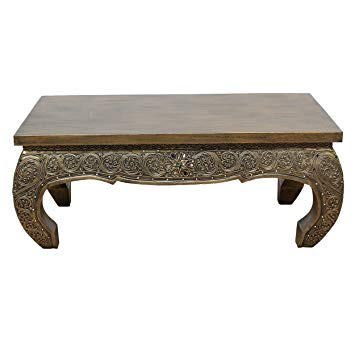 Table basse pierre bois