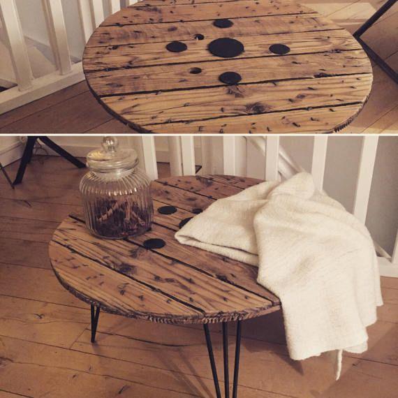 Table basse avec touret bois