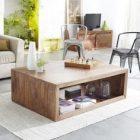 Table basse en bois massif palissandre bruges 60cm