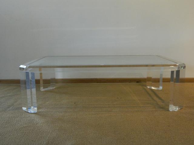 Table basse plexiglass vintage