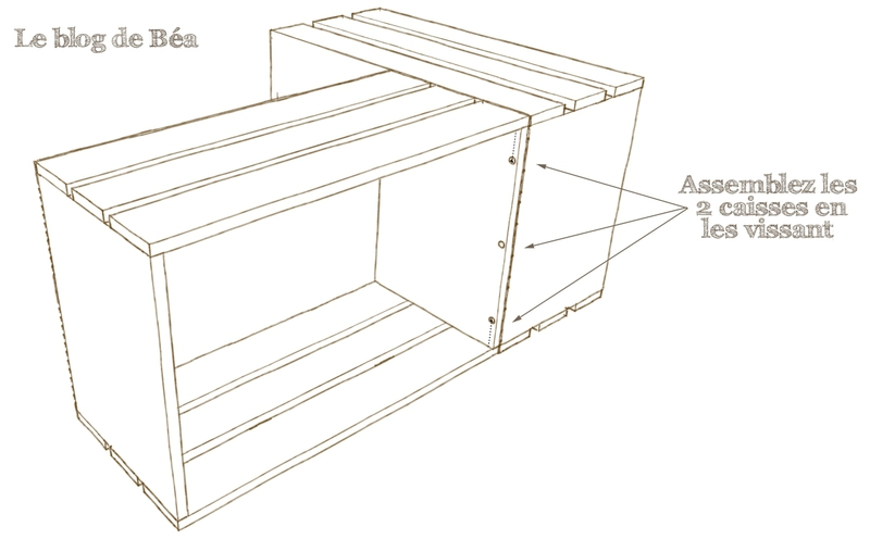 Table basse bois et verre dessus