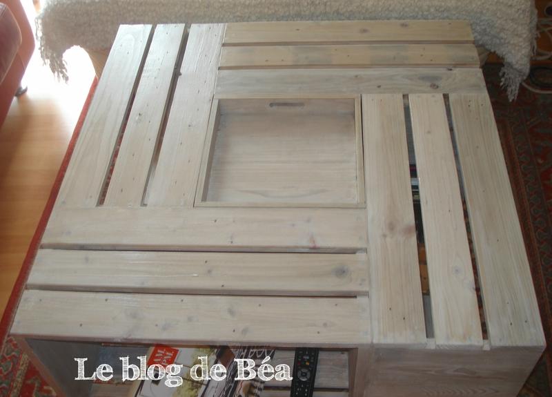 Table basse palette avec bar