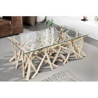 Table basse design bois flotté