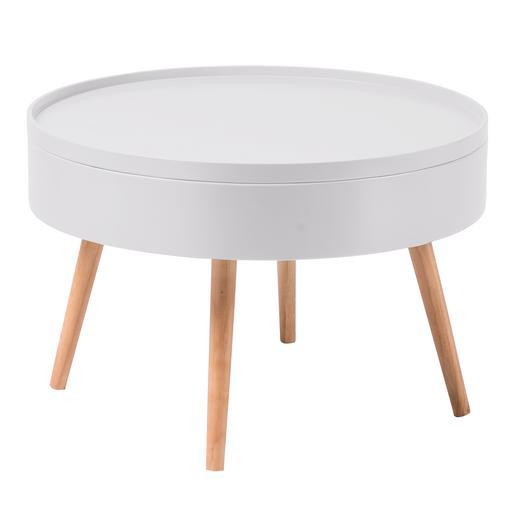 Table basse scandinave rangement