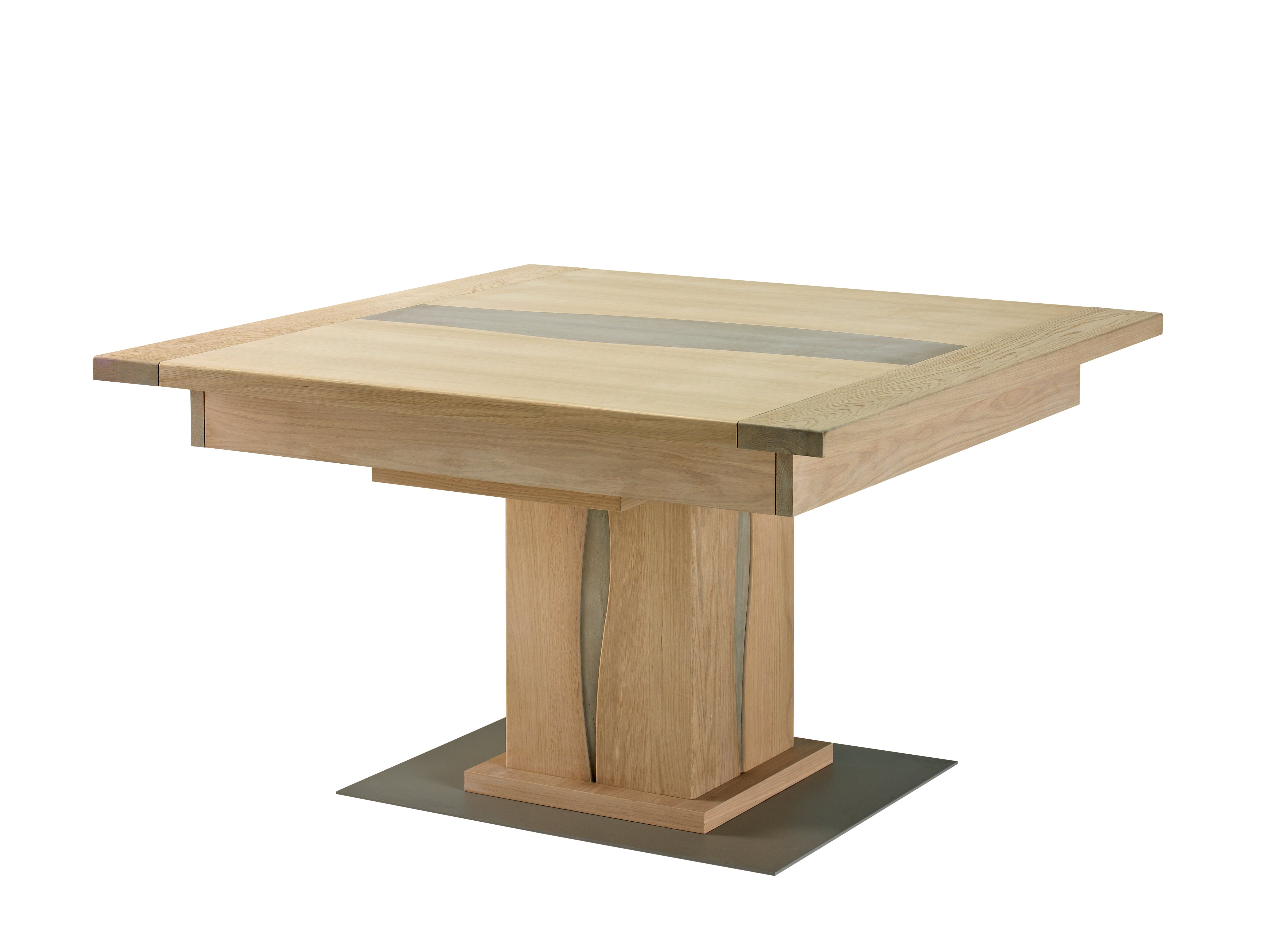 Table basse relevable avec pied central
