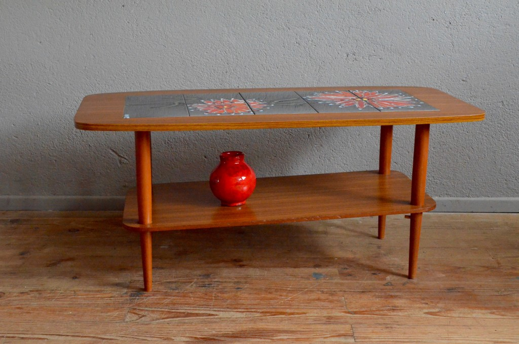 Table basse plateau vintage