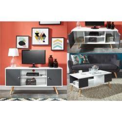 Ensemble meuble tv table basse scandinave