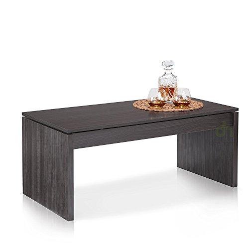 Table basse grise plateau relevable