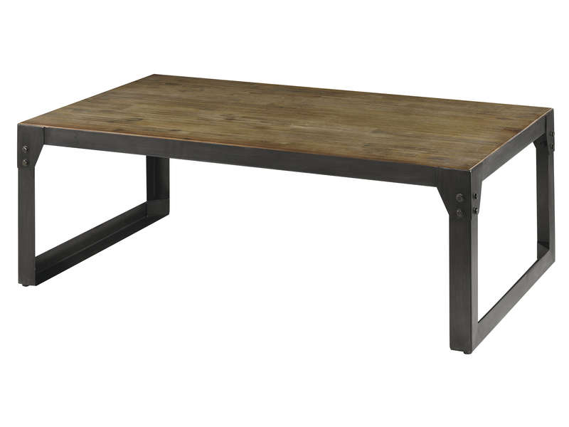 Table basse chene massif conforama