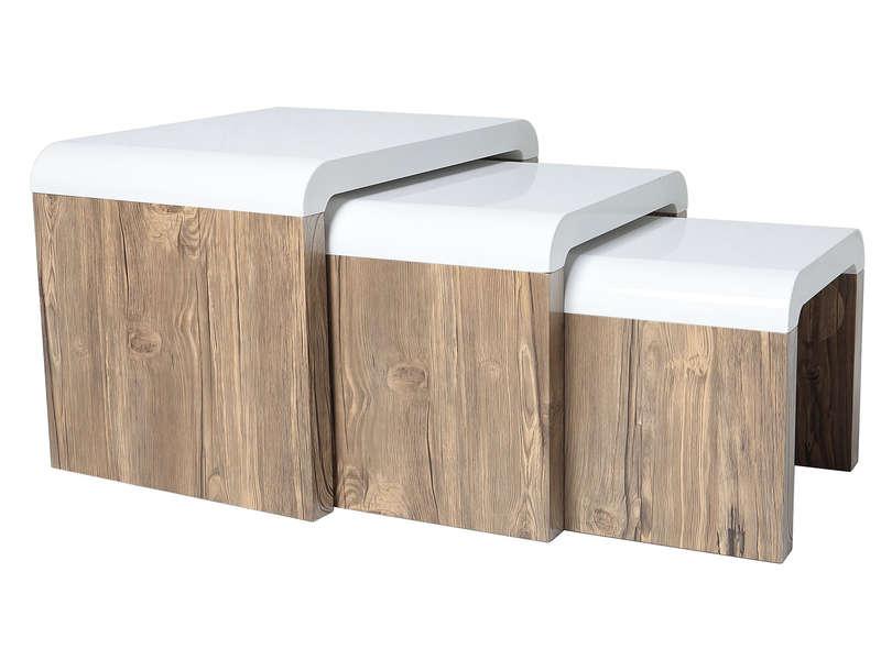 Table basse bambou conforama