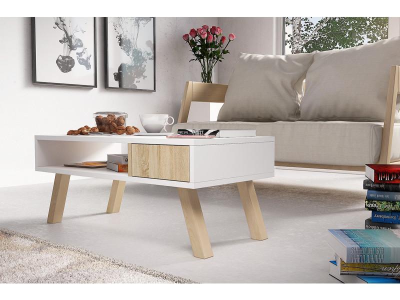 Table basse bois hêtre