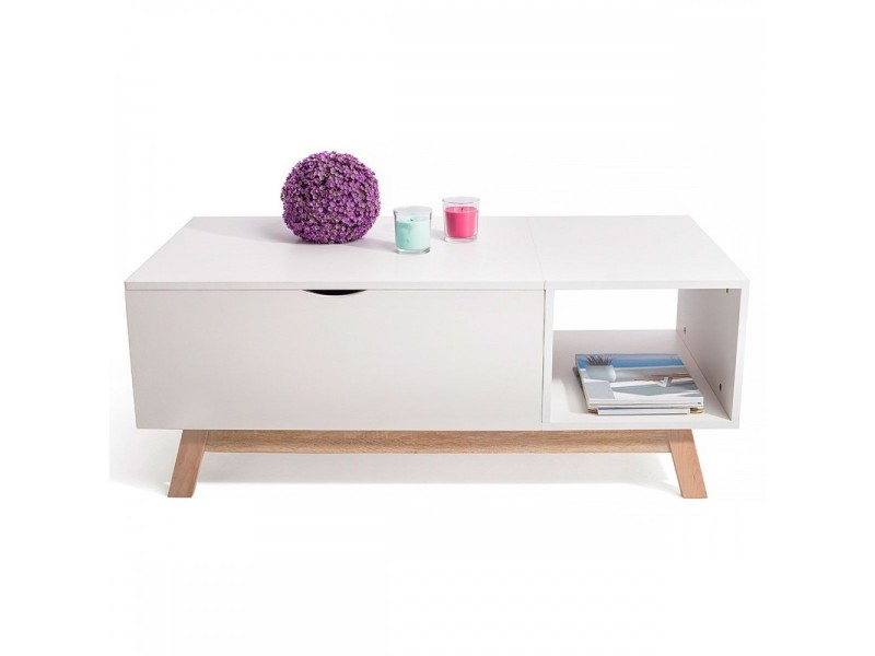 Conforama table basse scandinave