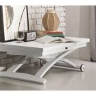 Table basse relevable blanche conforama