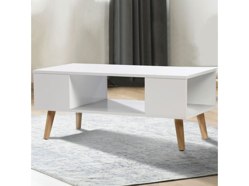 Table basse ambiance scandinave