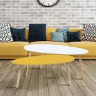 Table basse scandinave jaune