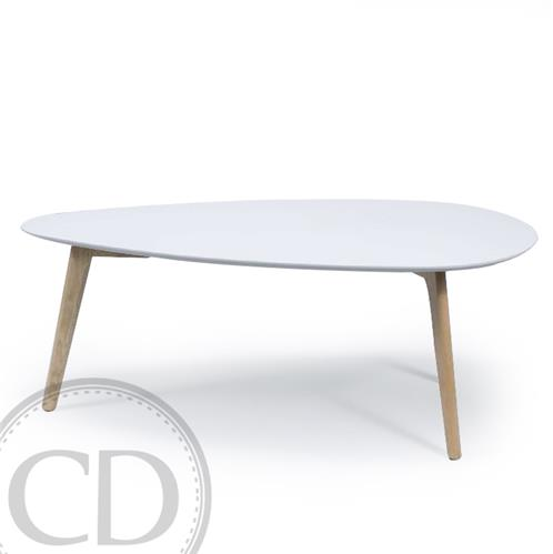 Table basse blanc scandinave