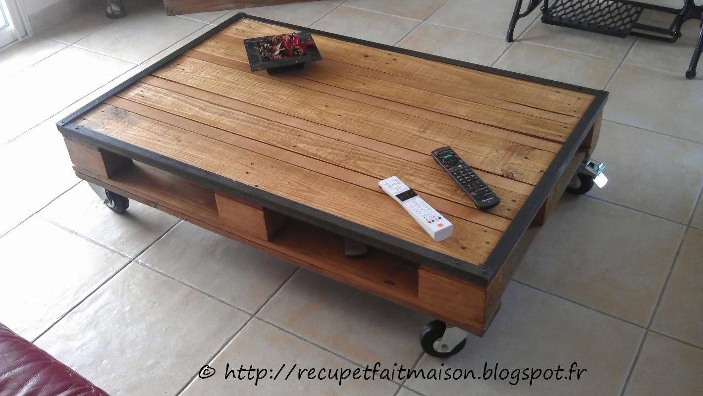 Table basse palette vernis