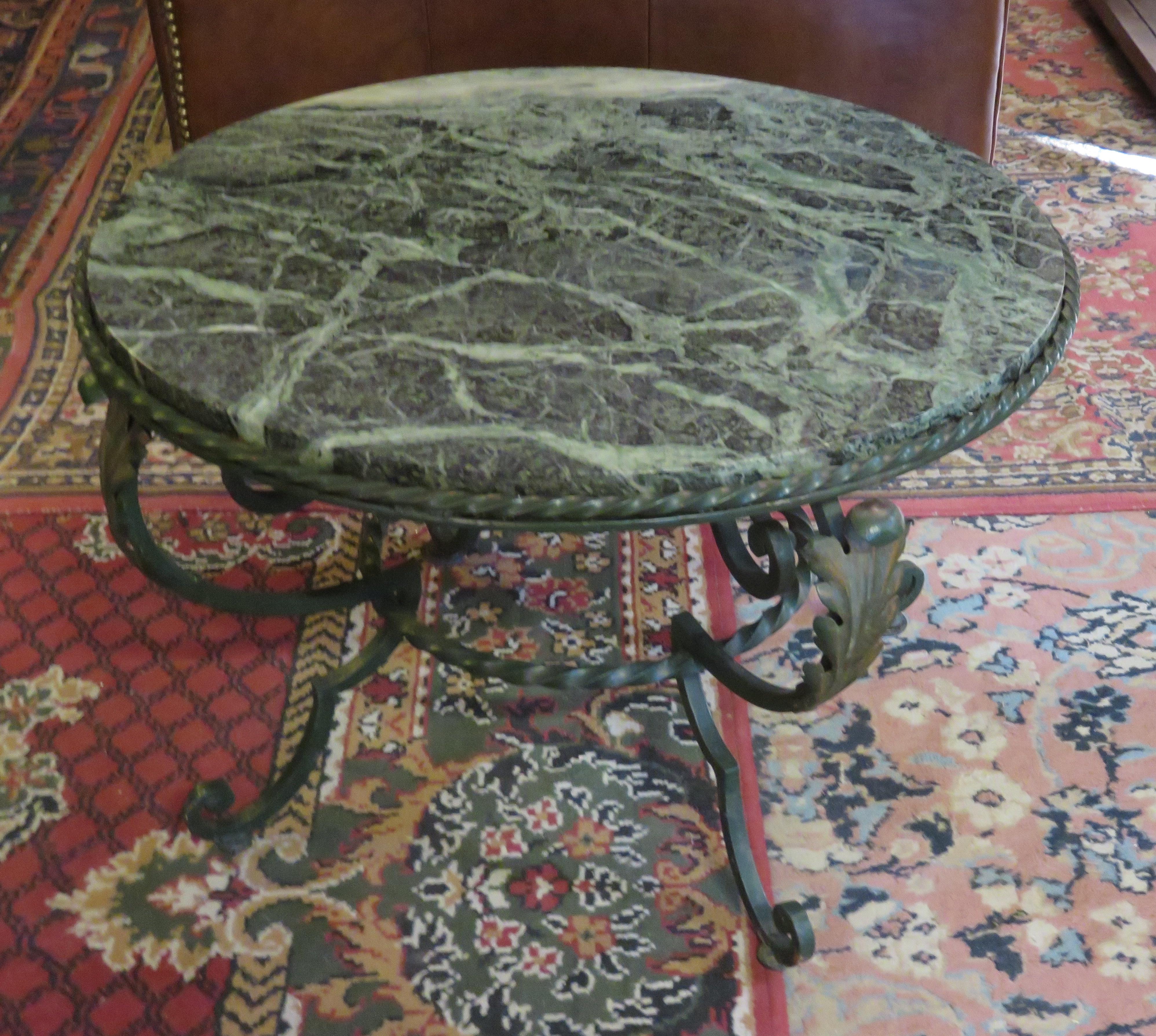 Table basse marbre brocante