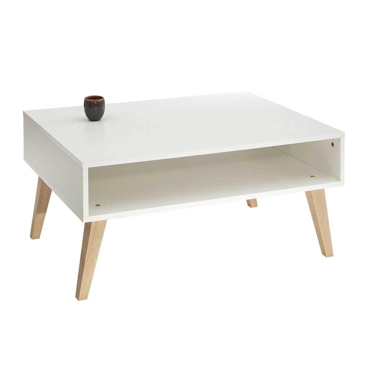 Table basse avec pied en bois